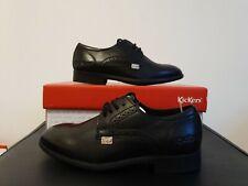 Kickers Jarle Black Leather Lace Up JNR Shoes In Black UK Size 13 EUR 32 BNWB