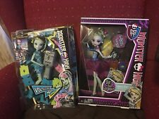 2 Monster High Dolls Lagoona Blue, Dot Dead Gorgeous & FRANKIE STEIN -Volt Hair