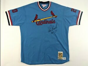 LOU BROCK Cardinals Mitchell & Ness SIGNED 1979 Cooperstown Collection Jersey
