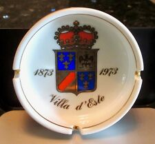 "1973 ITALIAN HOTEL HERALDIC ASHTRAY ""VILLA D'ESTE"" Centennial- Ginori Porcelain"