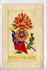 More details for (gw702-450) ww1 silk postcard, royal fusiliers, c1914-18 vg-ex