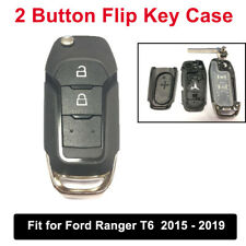 2 Button Flip Remote Fob Key Case Cover Replacement For Ford Ranger T6 2015-19