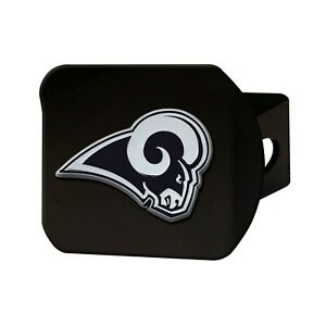 Fanmats NFL Los Angeles Rams 3D Chrome on Black Hitch Cover Del. 2-4 Days