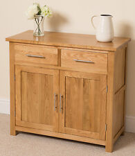 Oslo 100% Solid Oak Small Sideboard Cabinet Storage Unit Living Room Furniture