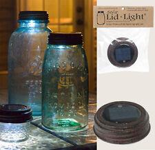 Country/Primitive/Farmhouse/Cottage Solar Lid For Mason Jar - TEXTURED BROWN