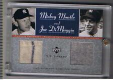 2001 UPPER DECK  PINSTRIPE EXCLUSIVE Mickey Mantle & Joe Dimaggio Jersey 01 / 50