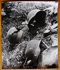 Original Soviet Ukrainian Vintage Photo Soldier helmet WWII Photographer Plaksin