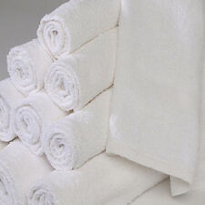 1 DOZEN NEW WHITE 16X27 100% COTTON TERRY HAND TOWELS SALON/GYM 3# DOZEN