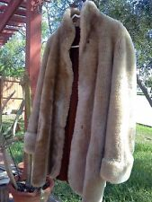 VINTAGE ALASKAN MOUTON DYED LAMB-BROWN CREAM COLOR-FREE DELIVERY 48 CONUS STATES