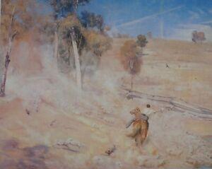 Tom Roberts, A break away' 1891 Corowa,NSW. Large Australian original Art Print.