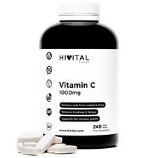 Vitamina C 1000 mg | 240 comprimidos veganos (Suministro para 8 meses)