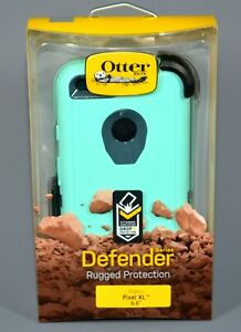 "Pixel XL Otterbox Defender 5.5"" Only Rugged Phone Case Borealis Blue Teal Aqua"