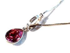 Bijou alliage argenté cristal rose Agatha  idéal pour cadeau necklace