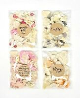 Sprinkle Me WEDDING CONFETTI Real Dried Petal Packets Biodegradable Flutter Fall