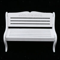 Miniature Fairy Garden Wooden Bench for 1/6 Dollhouse Furniture Accessory