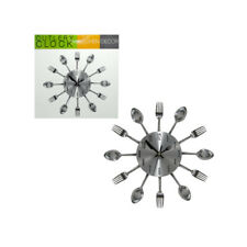 3d Whimsical Kitchen Cutlery Spoons Forks Utensils Dining Wall Clock Decor Art