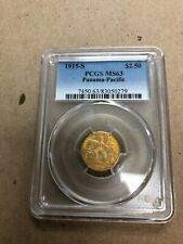1915-S Panama Pacific / PAN-PAC $2.50 GOLD Commemorative - PCGS MS63