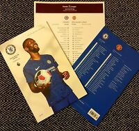 Chelsea v Manchester United Programme with official teamsheet 17/2/20!!!