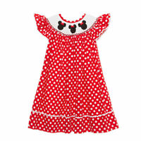 Smocked Mouse Ears bishop dress NEW 3m - 8  * girl birthday Minnie*