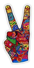 Hippy Peace Funky Sticker for Bumper Truck Laptop Baggage Suitcase Helmet #02