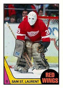 1987-88 Topps CTNW #230 Sam St. Laurent Detroit Red Wings Custom Card