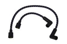 Black Blue Cloth Spark Plug Ignition Wire Set Harley Softail Sportster Dyna