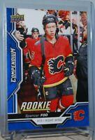 2018-19 Upper Deck Compendium Blue #833 Rookie Spencer Foo Calgary Flames
