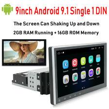 Android 9.1 Single 1 DIN Car GPS Stereo 9'' Flip HD Screen USB WIFI FM Radio+CAM