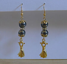 Round Glass Beaded Costume Earrings