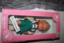 "Engel-Puppe M.J. Hummel Vinyl Doll-Boy With Backpack 12"" Germany In Box"