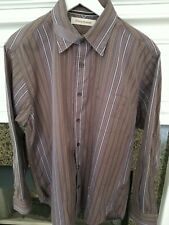 Tommy Bahama Button Down Shirt Mens Size Medium Striped  Long Sleeve