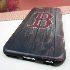 "Boston Red Sox #BW Impact Rubber+Leather Cover Case for Apple iPhone 6S (4.7"")"