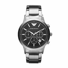 Emporio ARMANI Men's Black Chronograph Watch Ar2434