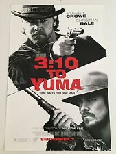 3:10 TO YUMA - RUSSELL CROWE, CRISTIAN BALE - 13.5x20 PROMO MOVIE POSTER