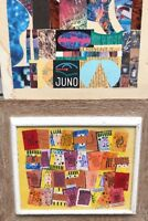 MIXED MEDIA POP ART by CHARLES R. JACOBSON PAIR ORIGINAL 20th Century SIGNED