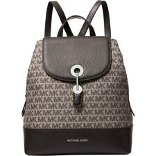 Michael Kors Raven Medium Graphite Black Signature and Leather Backpack