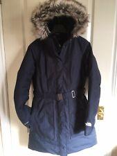 The North face Womens Brooklyn Parka Coat Jacket Urban Navy Blue S Small