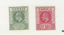 Gambia, Postage Stamp, #28-29 WMK2 Mint Hinged, 1902, JFZ