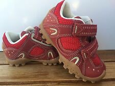 Geox RED  Leather AND MESH  Sneakers/Shoes  Little Boys Size  5 1/2