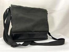TUMI Crossbody Messenger Laptop Bag Black Nylon Leather with Magnetic Flap