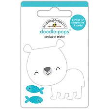Doodlebug Design At the Zoo Doodle-Pops 3D Sticker Patrick Polar Bear 5541 2017