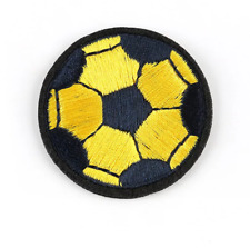 Black & Yellow Football Sport FA Embroidered Iron on Motif Patch Child or Adult