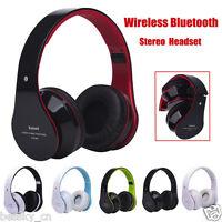 Wireless Stereo Bluetooth Headset Hands-free Headphone Mic TF Card FM Radio MP3