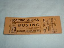 Fiore vs Whitewater May 23 1953 Boxing Rainbo Arena Chicago Ringside Full Ticket