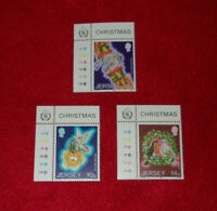 JERSEY MINT STAMPS 04.11.1986 CHRISTMAS CYLINDER SELVEDGE