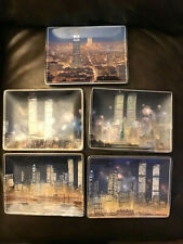 5 Bradford Exchange Peter Ellenshaw World Trade Center Wall Plaques Plates