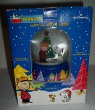 Peanuts Hallmark 50th Anniversary Musical Snow Globe New Never Displayed 2000