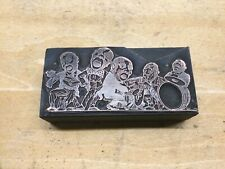 Jazz Musician Group Vintage Copper Print Plate Letterpress Block 3 14 X 1 12