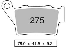 NISSIN 2P-275 ST PASTIGLIE FRENO POSTERIORI BRAKE TRIUMPH STREET TRIPLE 675 2014