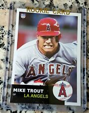 MIKE TROUT 2011 Rookie Card RC Logo 1953 Topps Style HOT Angels ROY AS MVP $$